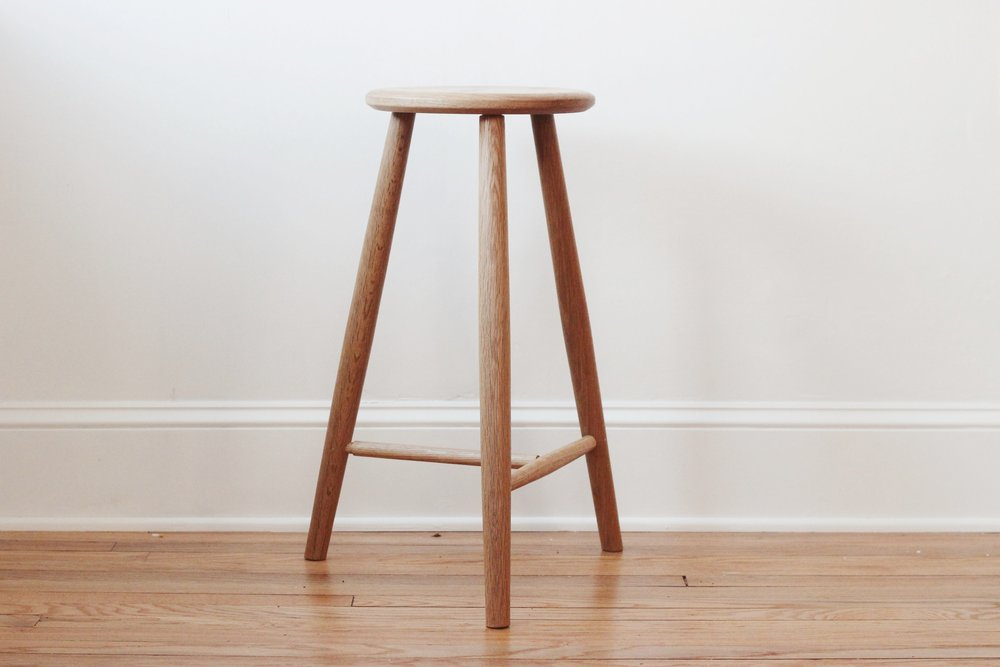 White Oak Counter Stool -