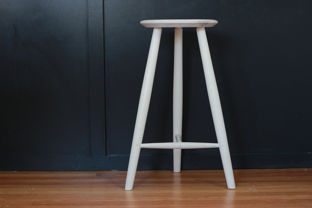 bleached Maple stool -
