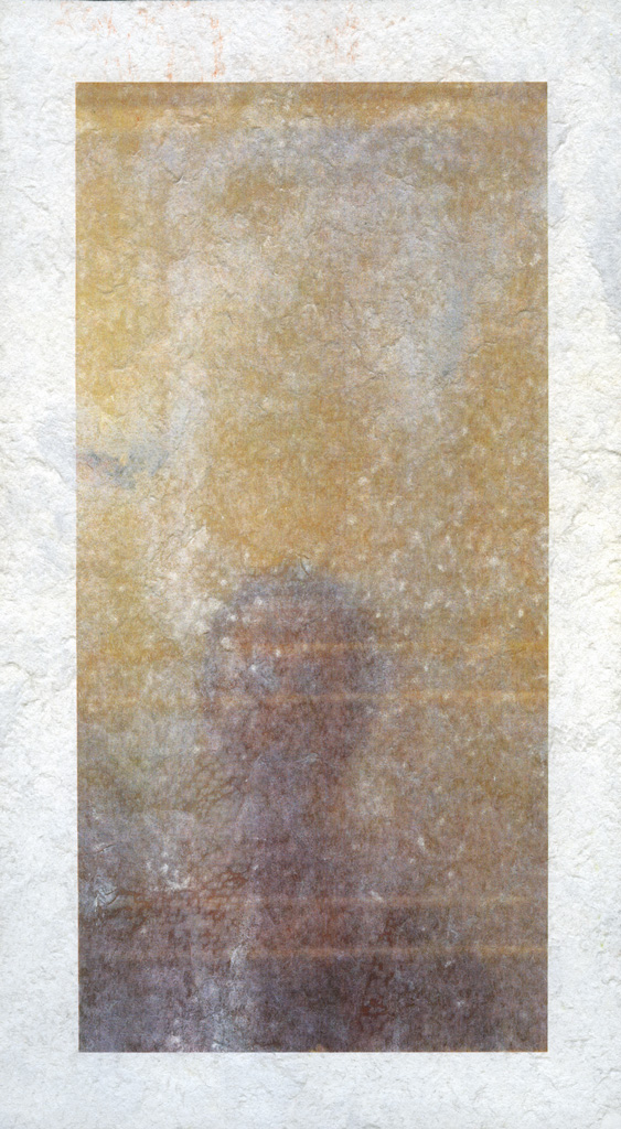 Self Portrait, 2012 digital print on perforated paper