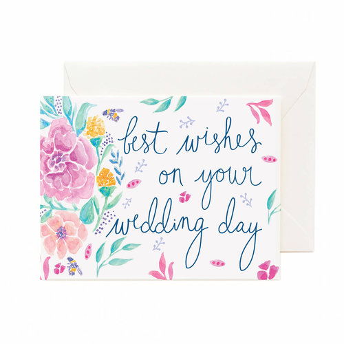 best wishes on your wedding day greeting card - Wedding Greeting Cards