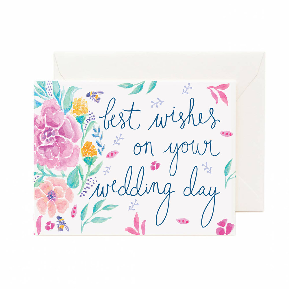 Best Wishes On Your Wedding Day Greeting Card Cunning Co