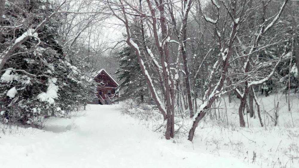 Log Cabin Snow 2