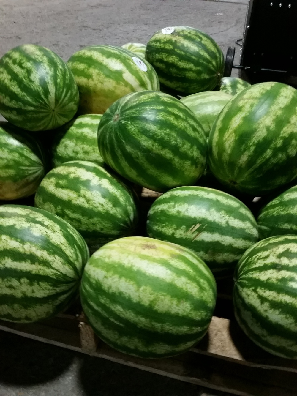 A LOT of watermelon...