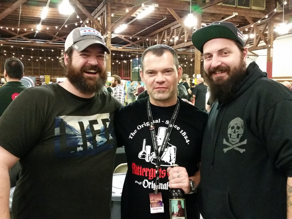 Jake and Josh with Tilo Jänichen, brewer of Ritterguts Gose in Leipzig, Germany. If you're looking for a traditional gose, we cannot recommend Ritterguts' enough.
