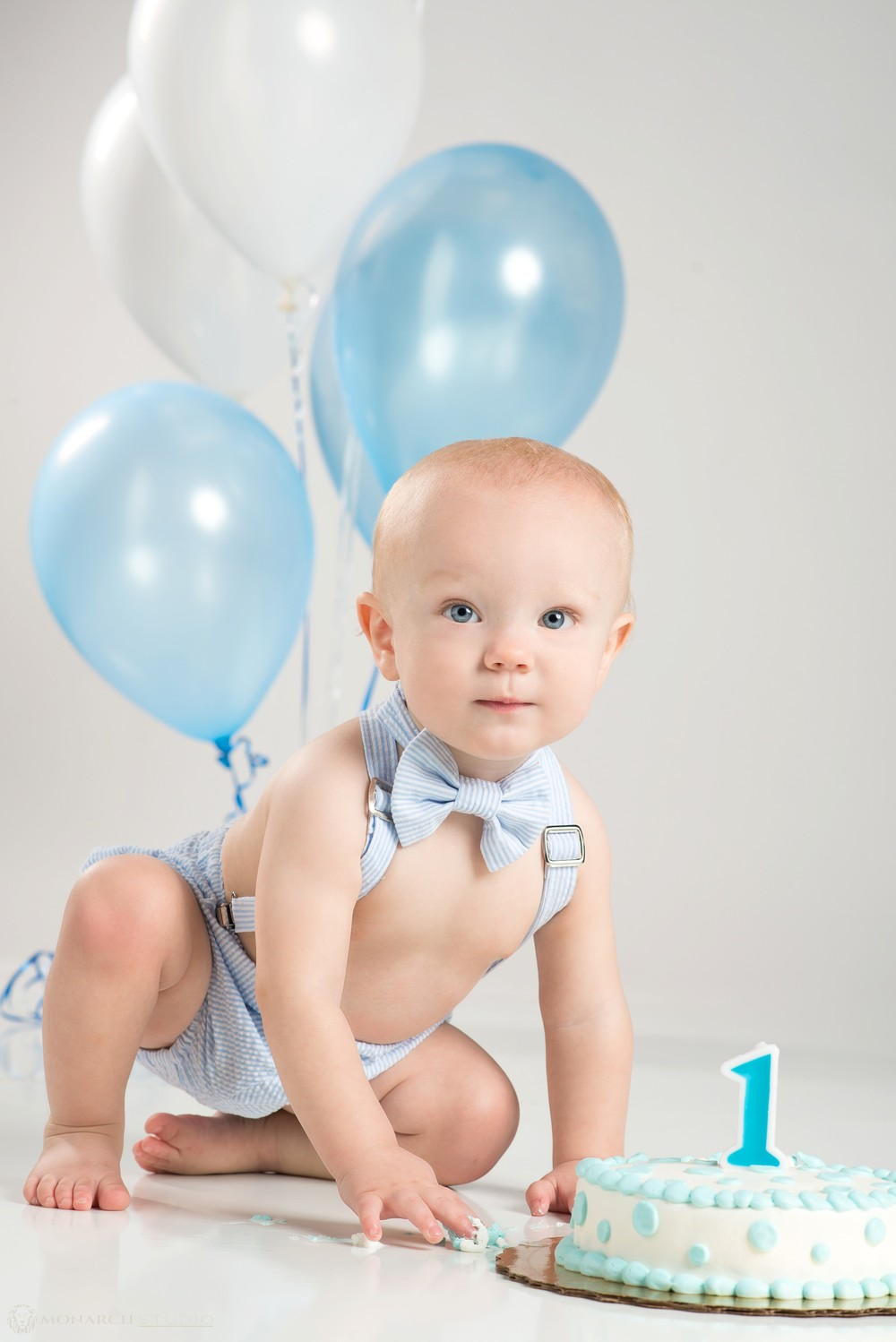 Smash cake portrait sessions have become a very popular way to celebrate 1st birthdays.