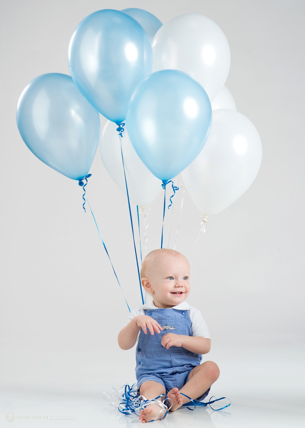 First Birthday Portrait Little Boy