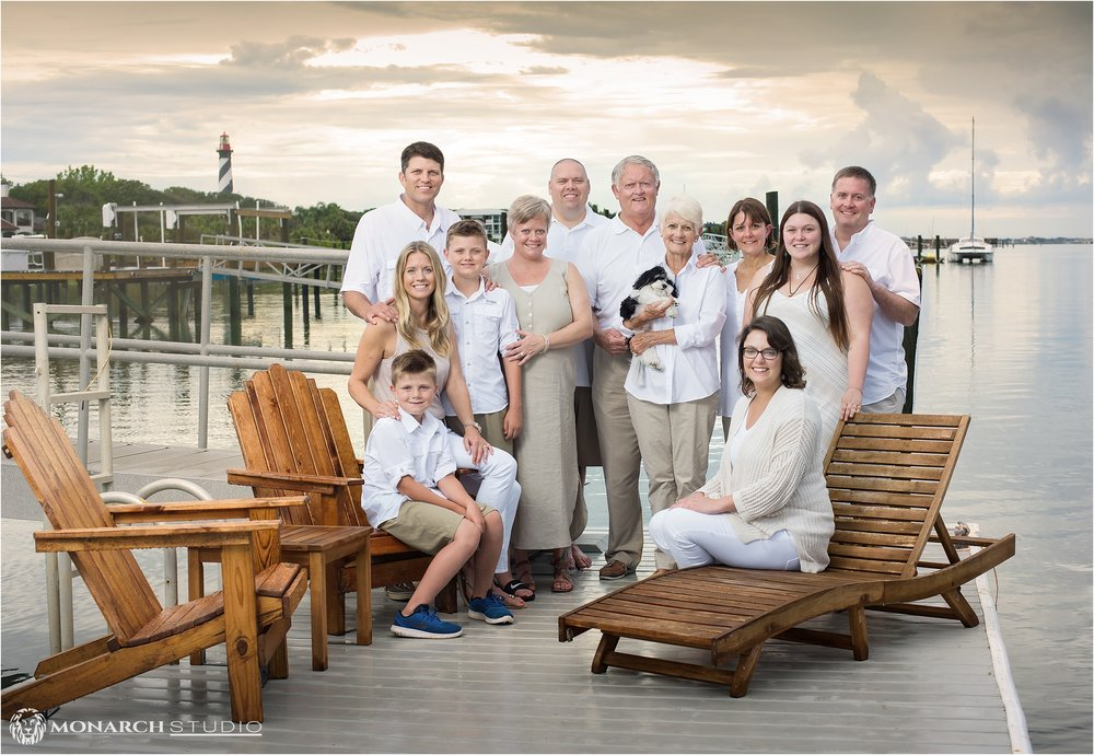 A beautiful family portrait overlooking Salt Run and the Saint Augustine Lighthouse.