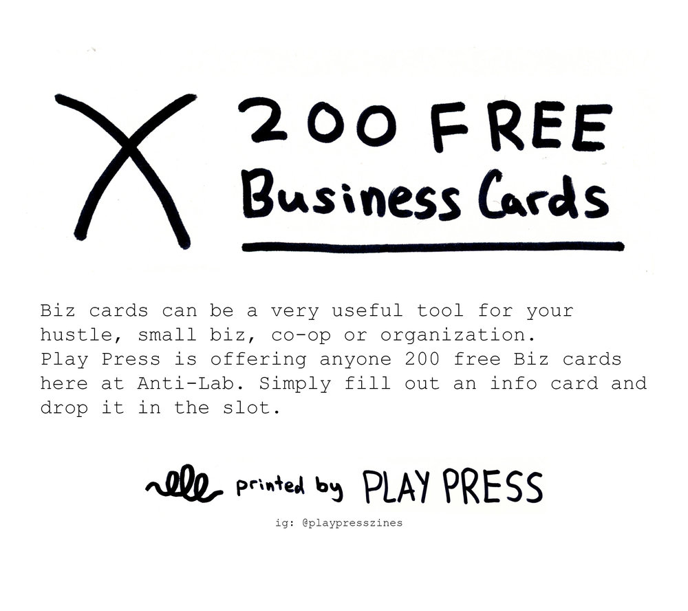 200 free business cards tnight i will display the business cards i designed and printed for people in the community i offered 200 free biz cards to anyone who came through colourmoves