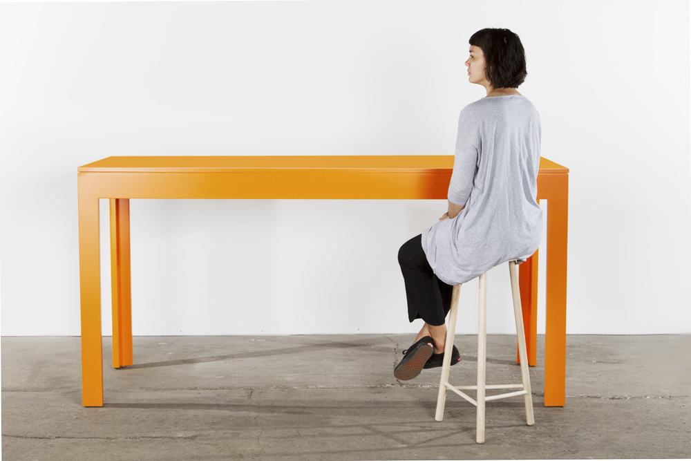 Orange parsons table