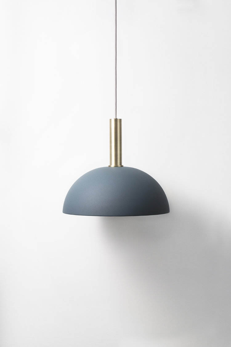 ferm LIVING blue pendant light