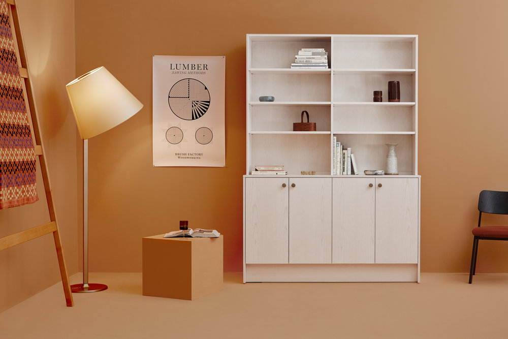custom ladder and britt bookcase.jpg
