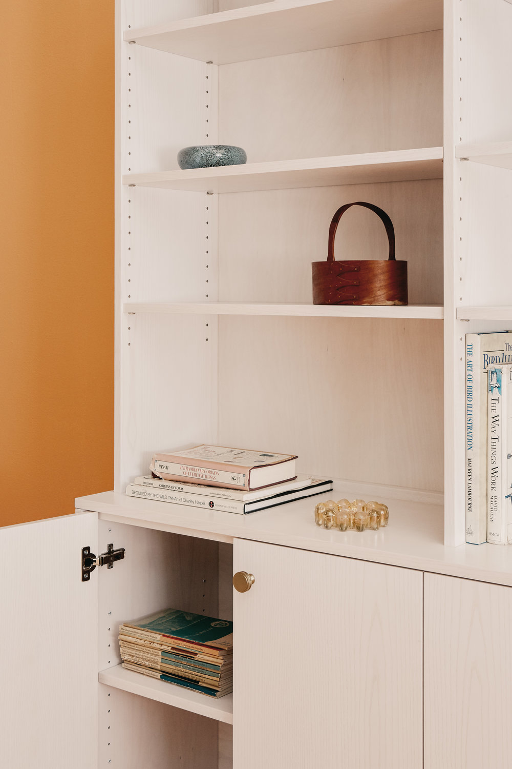 contemporary white bookcase adjustable shelves.jpg