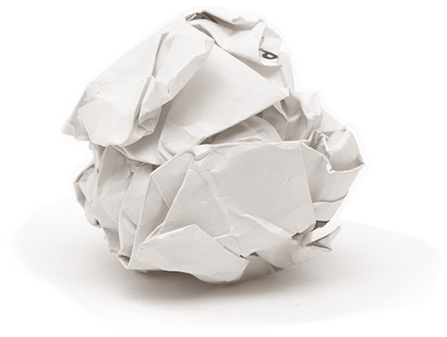 balled up paper