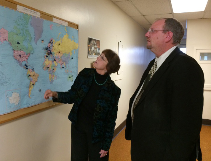 Dr. Sharon Wilsnack and Tom Brusegaard, Regional Director for Senator John Hoeven (R-ND).