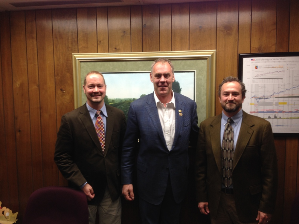 Dr. Bryan Cochran, Rep. Mike Zinke (R-MT), and Dr. Duncan Campbell