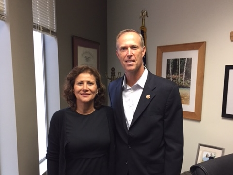 Dr. Carmen Masson and Rep. Jared Huffman (D-CA)