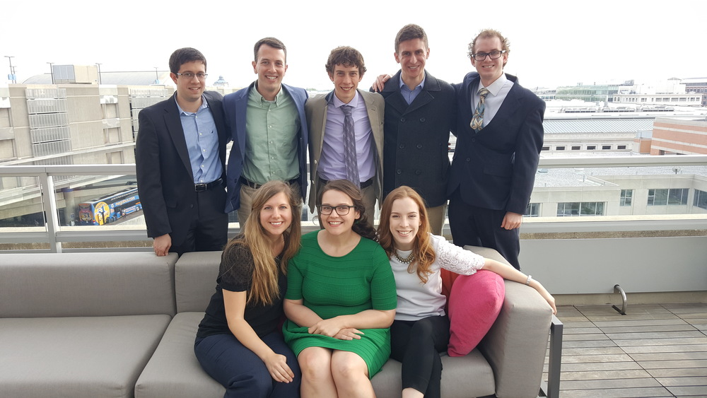 Science Student Council on the APA rooftop after a successful day on Capitol Hill.