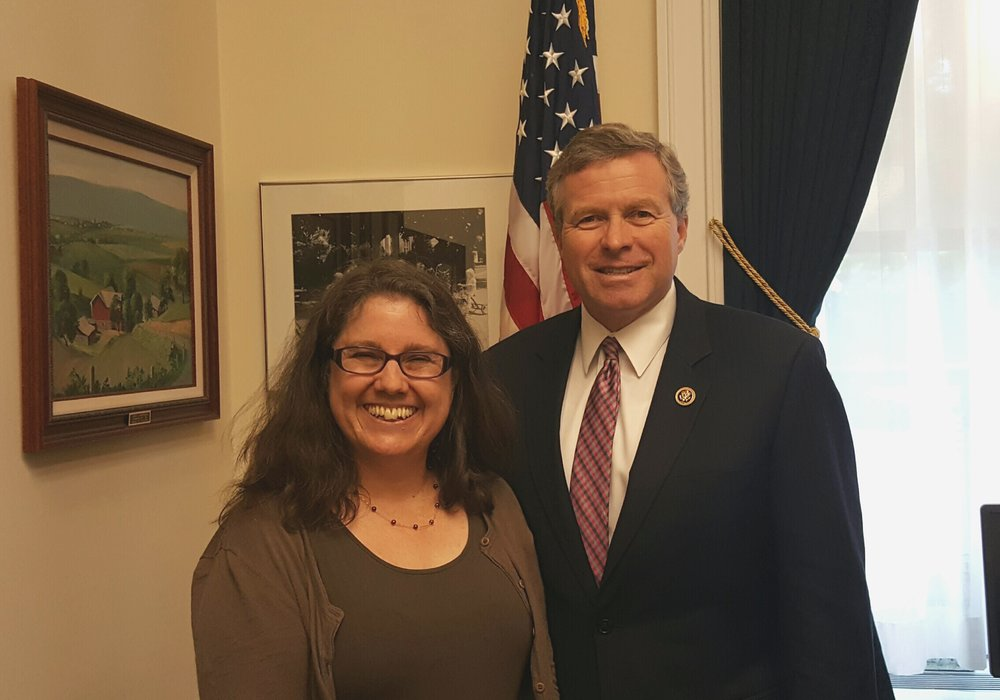 Susan Woodhouse, Ph.D. and Representative Charlie Dent (R-PA)