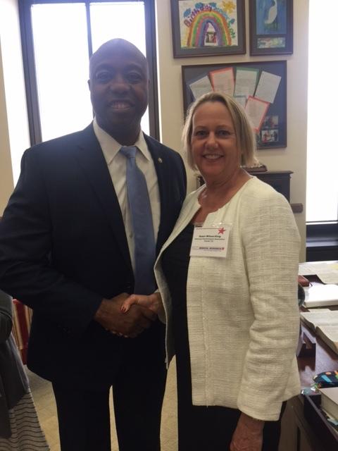 Sen. Tim Scott (R-SC) and Dr. Dawn Wilson