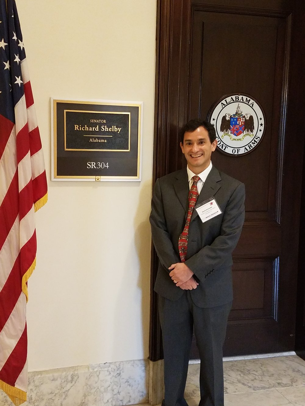David Schwebel visiting the office of Richard Shelby (R-AL)