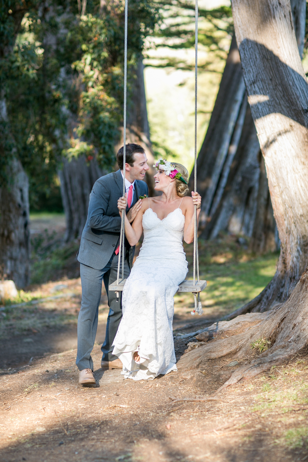 Big Sur Wedding Portrait - Bride & Groom