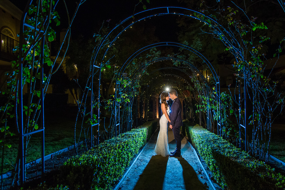 Westlake Village Inn Wedding Portrait