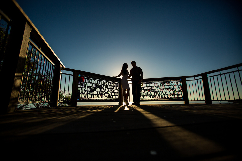 Laguna Beach Engagement Silhouette