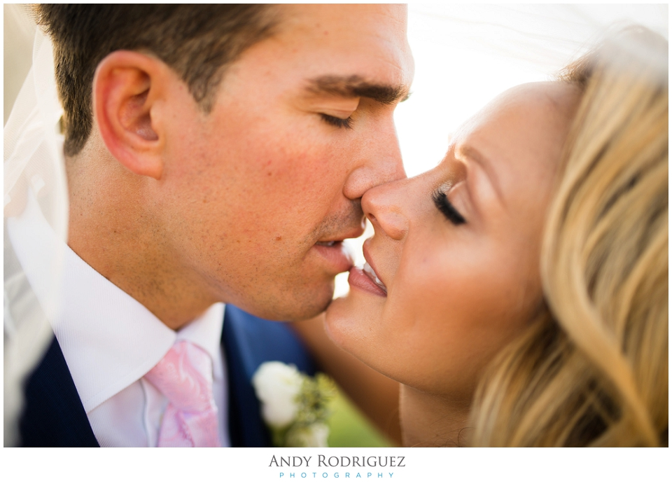 Bride and groom romance - Laguna Beach