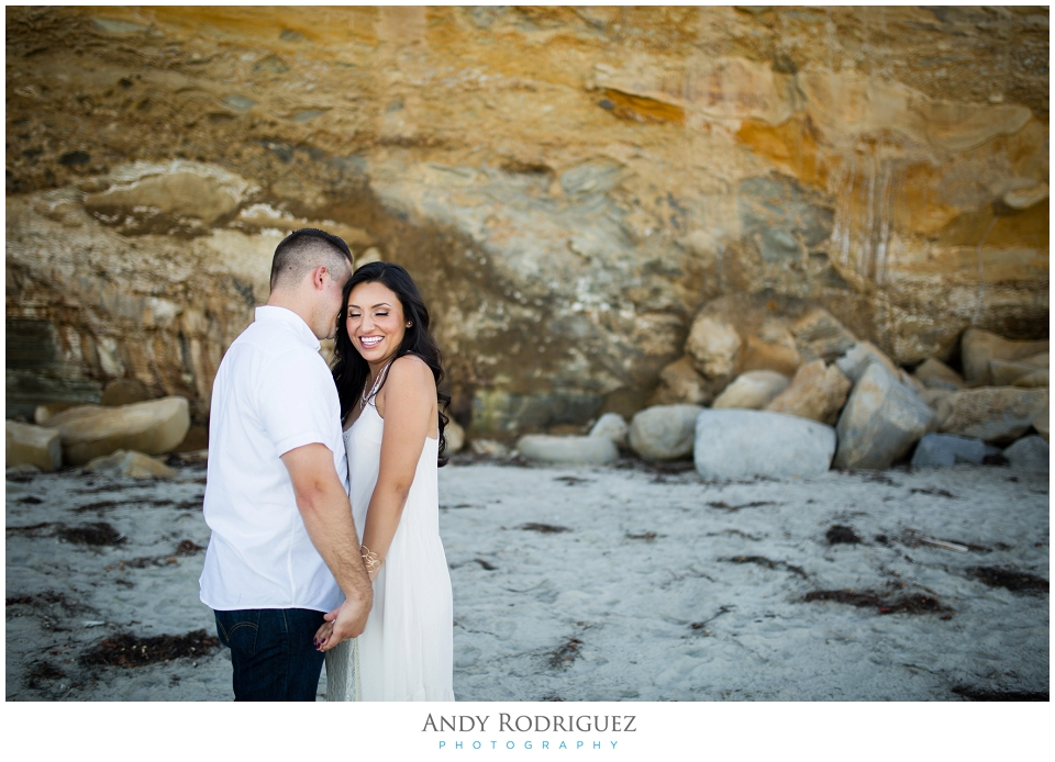Bride and groom at Scripps Beach
