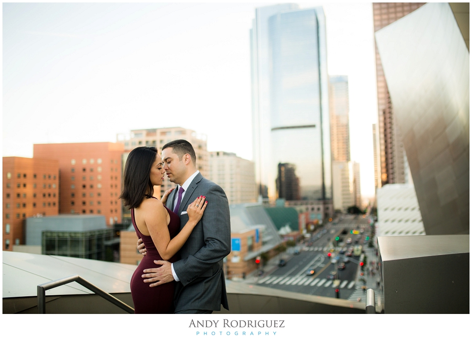 Downtown Los Angeles Engagement Photo