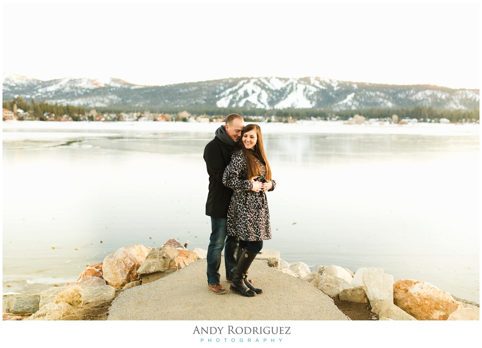 Big Bear Lake Engagement Photo