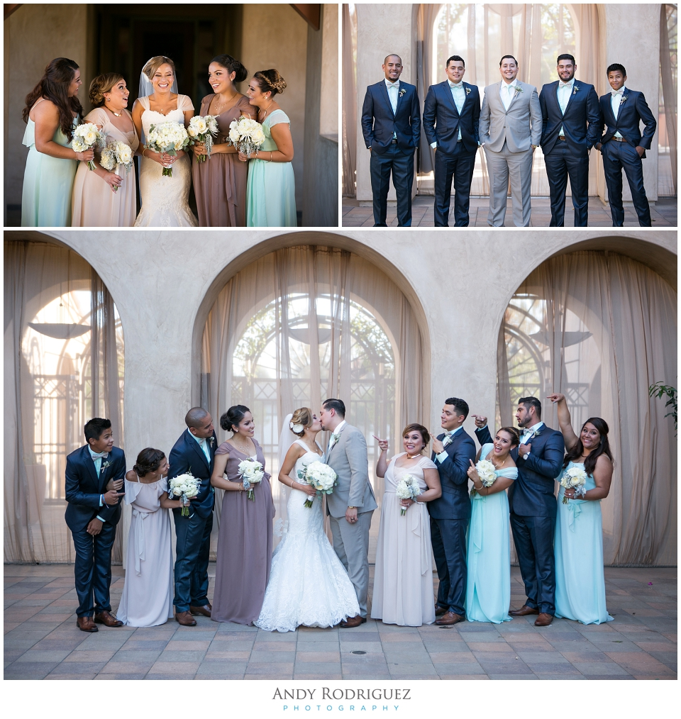 Wedding Party Photos at Serra Plaza