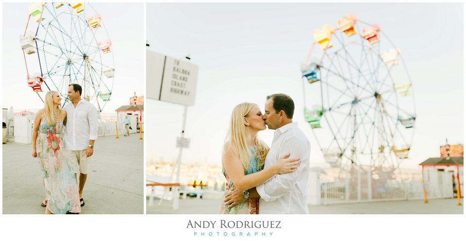 Ferris Wheel Engagement Photo