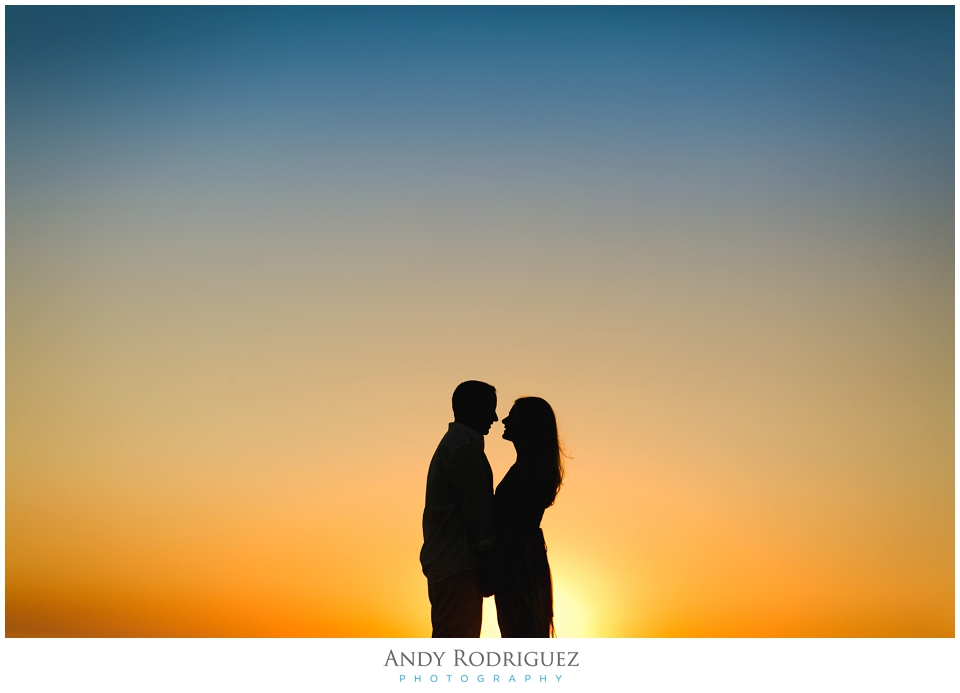 Silohuette Engagement Photo in Newport Beach