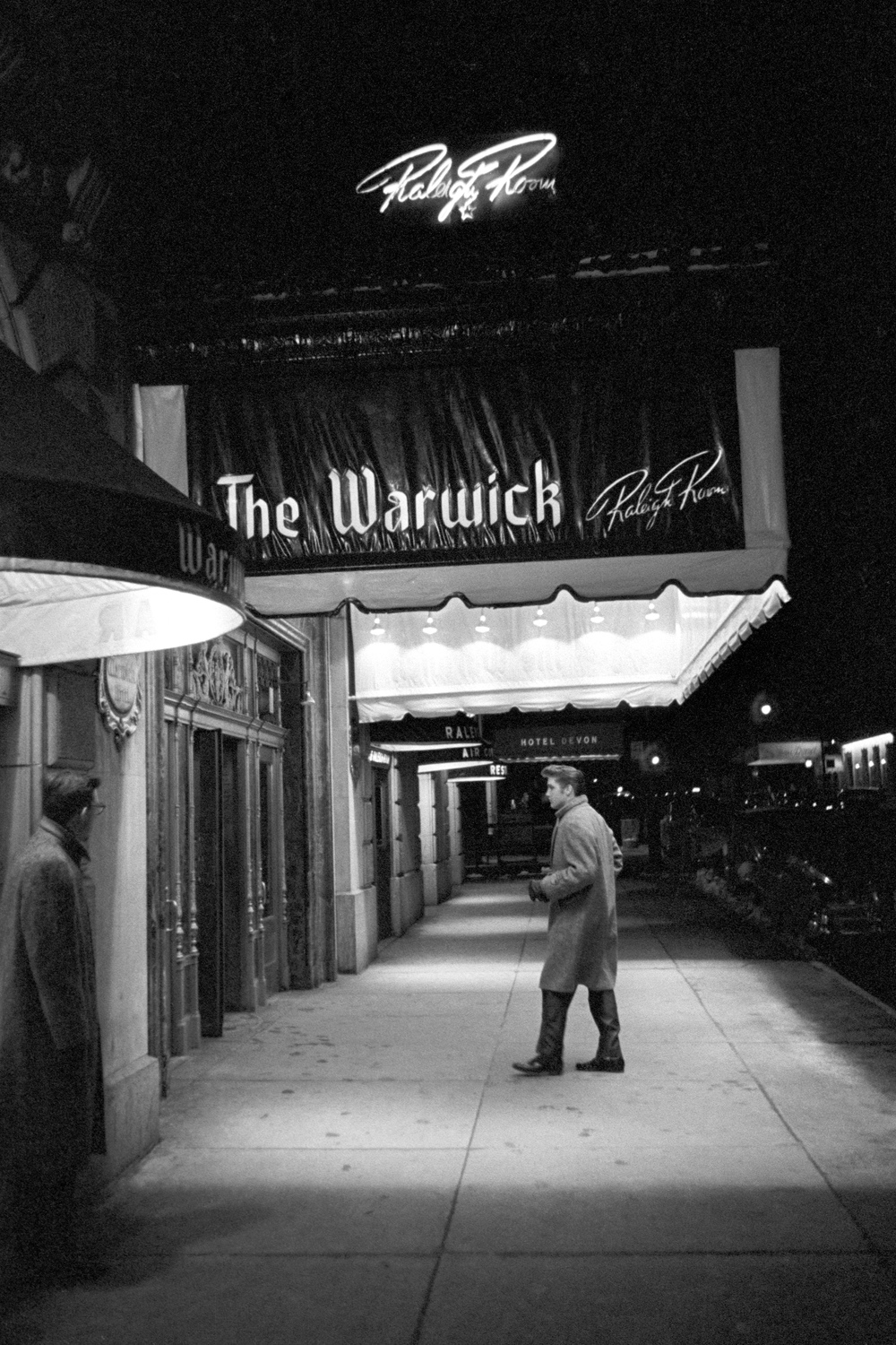 Elvis outside the Warwick Hotel in New York City.