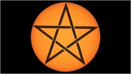 pentagram sun