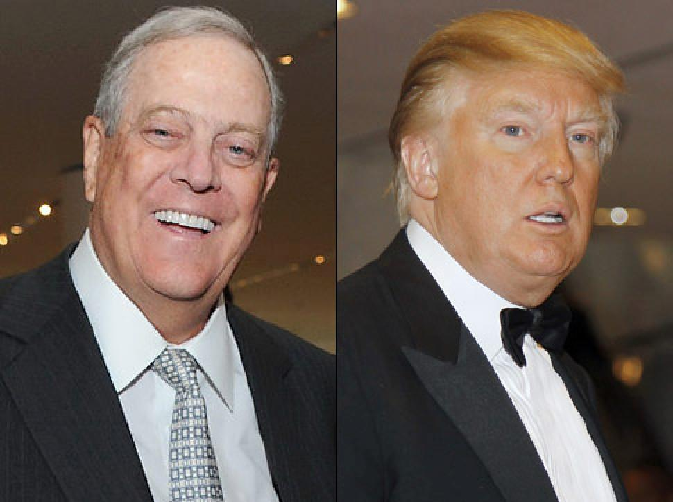 David Koch and the Trump.