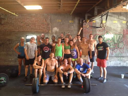 Crossfit group in Denver, my cousin Alyson third from left in back