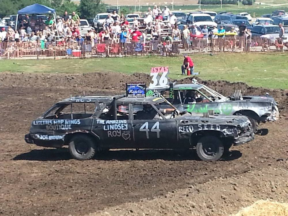 Derby car in the heat of the battle...#44 proved victorious! :)