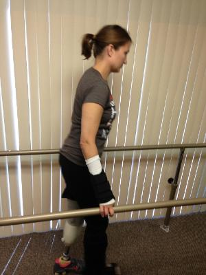 1st time walking on a prosthesis! September 23, 2013