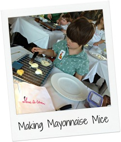 Henri Le Worm Launch making mayonnaise mice.jpg