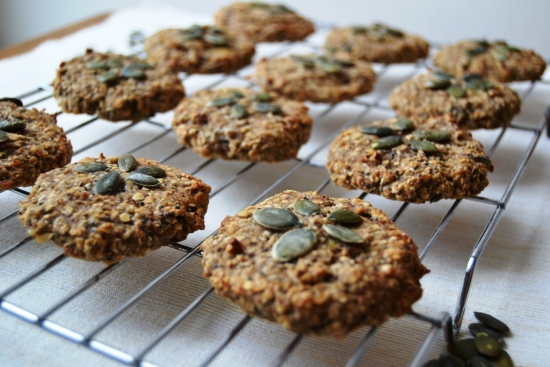 Three ingredient cookies poppy seed and pumpkin seeds.jpg