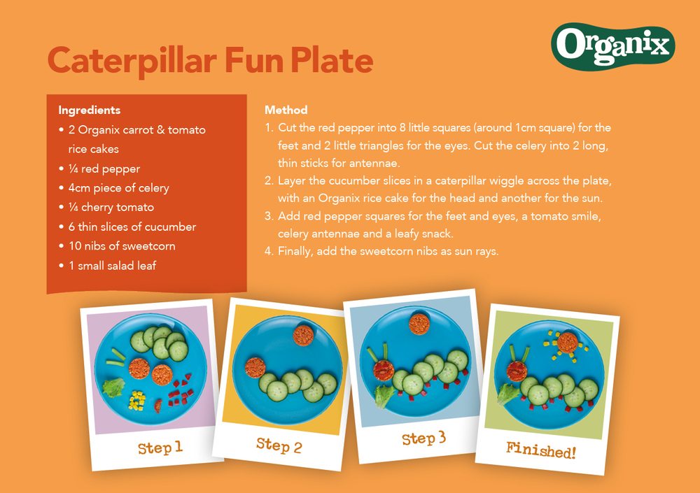Caterpillar Fun Plate by Organix Recipe