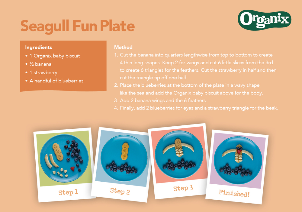 Seagull Fun Plate by Organix Recipe