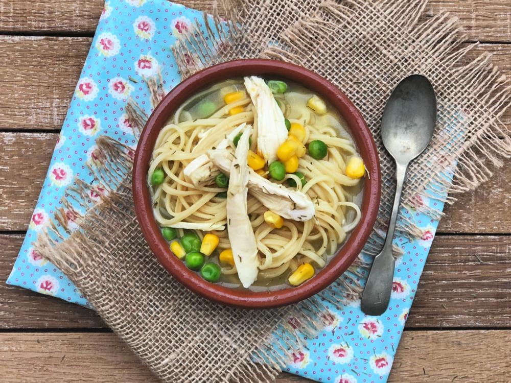 Super fast noodle soup for leftover turkey chicken.jpg