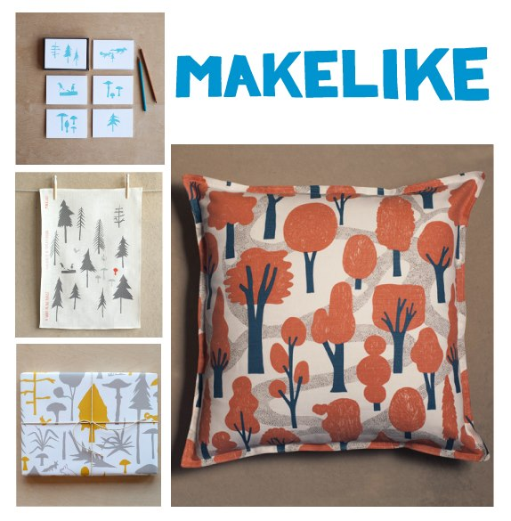 Everyone loves a great graphic and a pop of just the right colors. Design studio and shop Makelike applies that motto to create home items like tea towels, wallpaper, fabric, posters, and pillows. All these super stylish pieces are created in-house and make perfect gifts! Makelike a tree & a leaf at Give Good Gift Dec 7 & 8!