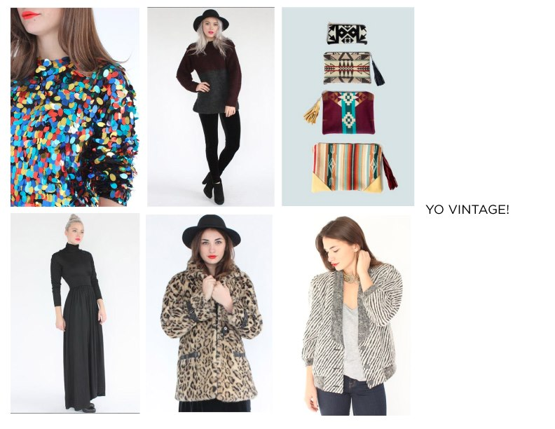 Alphabetically last on our ridiculously awesome list of vendors at  Give Good Gift  is the fabulous  Yo Vintage!  Curated by Sarah Radcliffe, stunning silhouettes, sexy metallics, and classic basics make up a collection of her favorite pieces, and soon to be yours.   After all the shopping you'll be doing for everyone else at GGG, you will certainly deserve a little something for yourself!