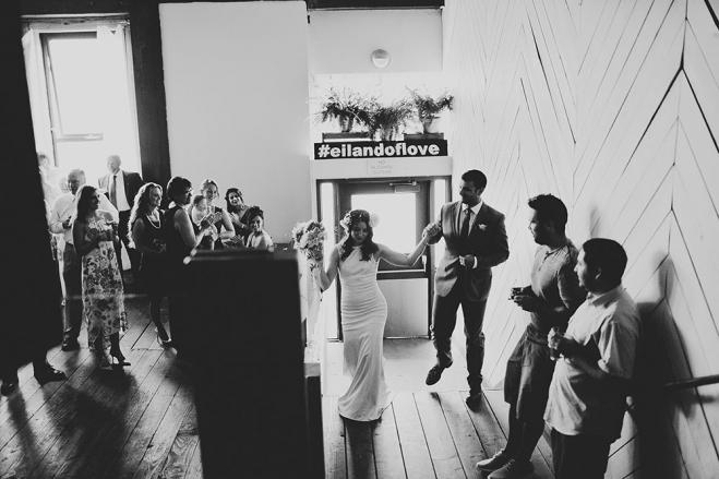 Wedding entrance photo by  Jamie Jones