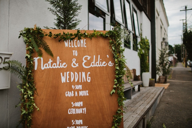 Wedding welcome sign photo by  Jamie Jones