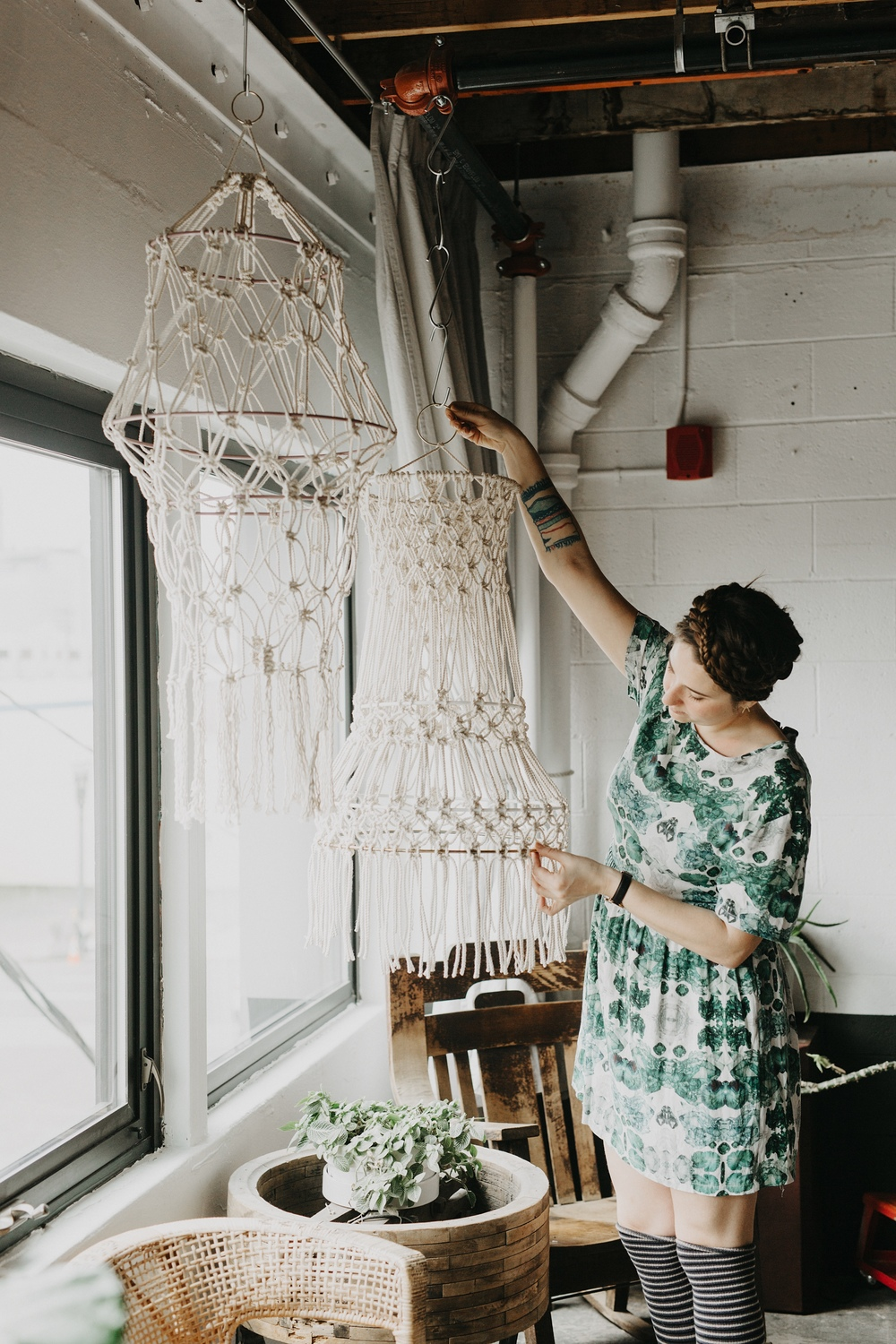 Macrame Hangings by Emily Katz